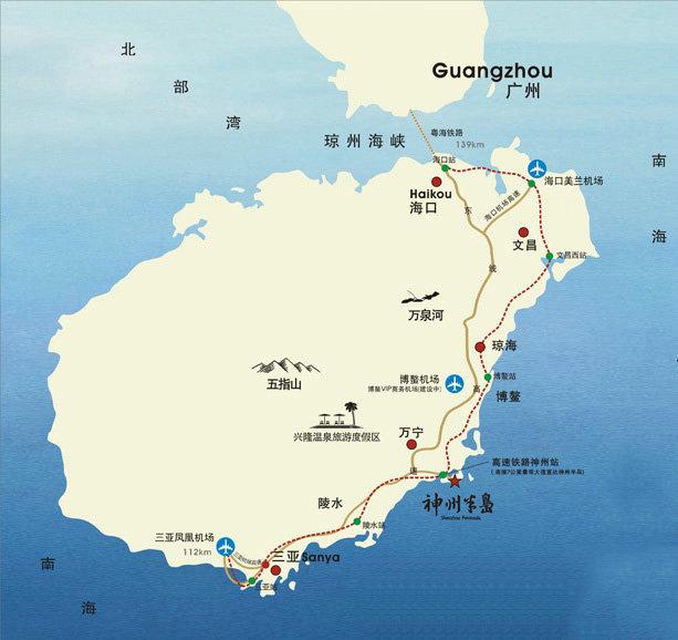 中海神州半岛交通图