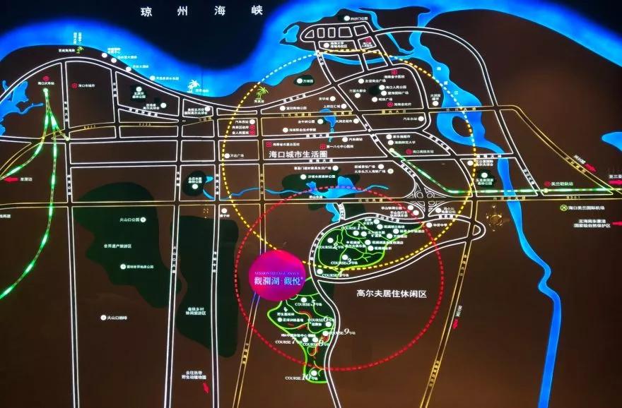 观澜湖观悦交通图