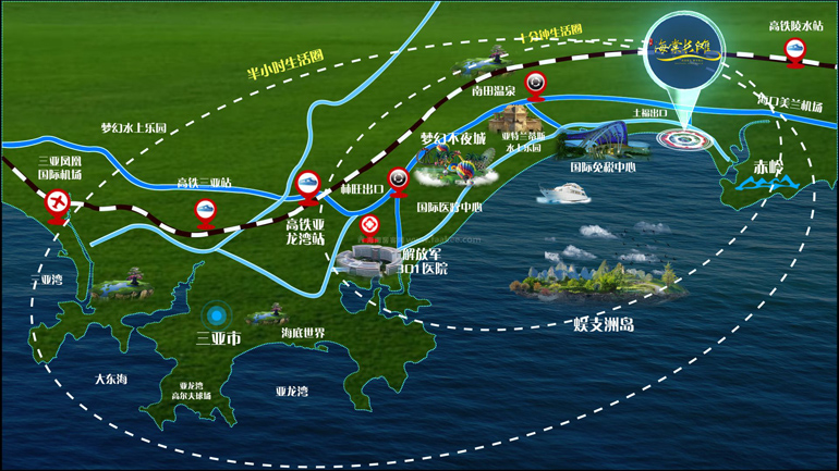 清凤海棠长滩区位图