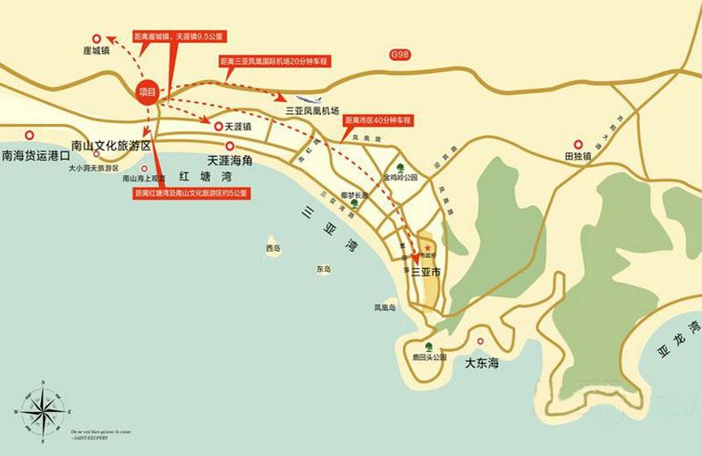 中交绿城高福小镇区位图