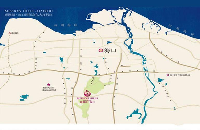 观澜湖上东区2区区位图