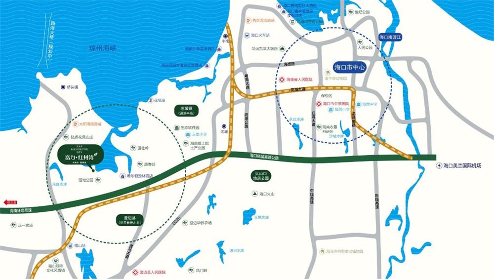 富力红树湾交通图