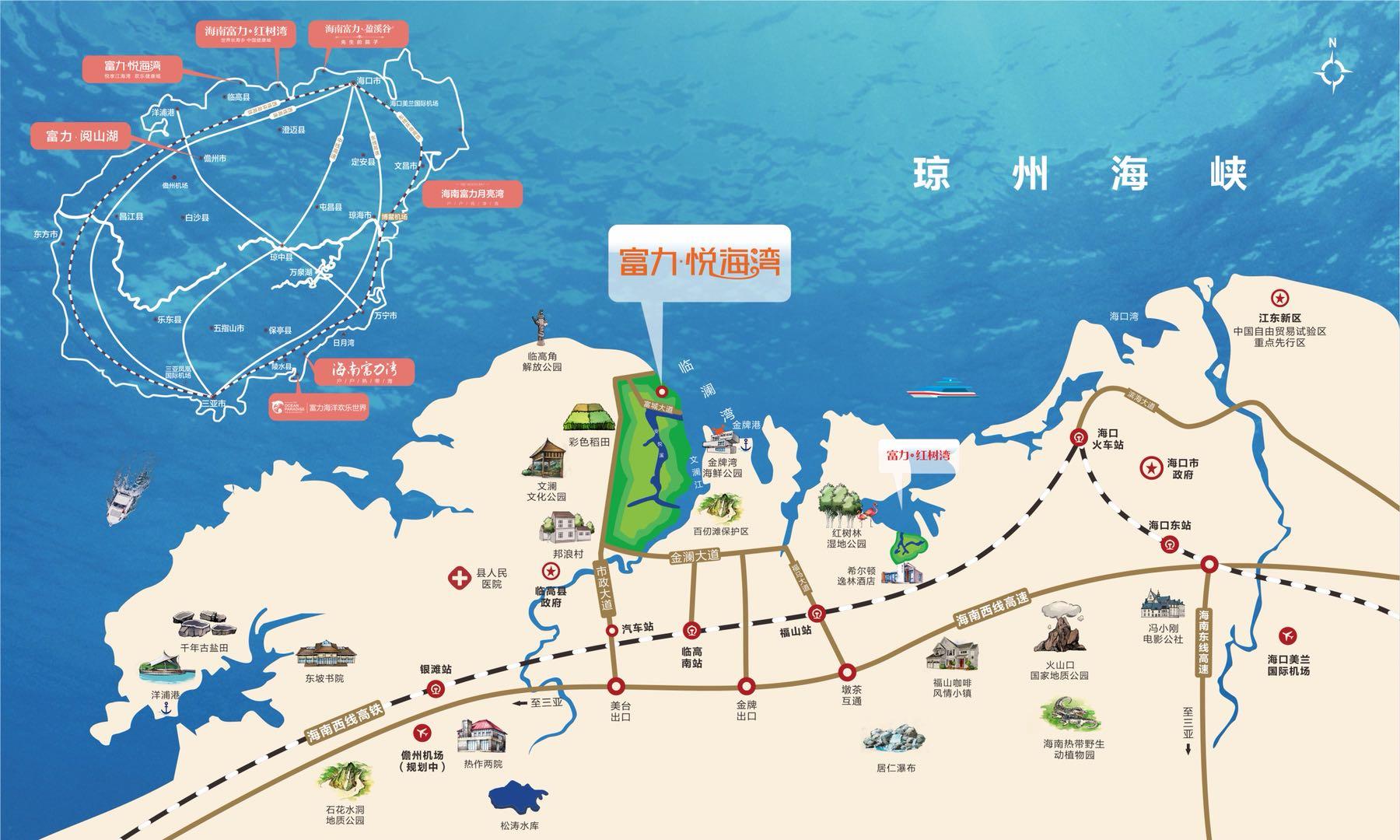 富力悦海湾交通图